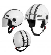 Jet Helmet Fever A-Pro Casco White Sonicmotoshop