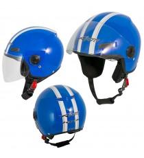 Jet Helmet Fever A-Pro Casco Blue Sonicmotoshop
