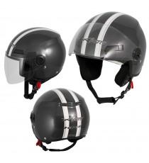 Jet Helmet Sniper A-Pro Casco Grey Sonicmotoshop