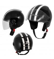 Jet Helmet Fever A-Pro Casco Black Sonicmotoshop