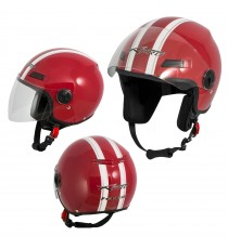 Jet Helmet Fever A-Pro Casco Red Sonicmotoshop