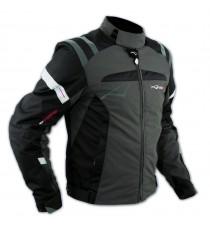 Giacca Sport Touring Tessuto Moto Cordura CE Protezioni Sfoderabile Marrone