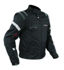 Giacca Sport Touring Tessuto Moto Cordura CE Protezioni Sfoderabile Nero