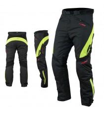 Pantaloni Impermeabile Moto Termica Estraibile Traspirante Cordura Fluo