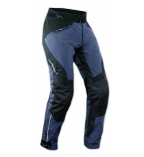 Pantaloni Donna Lady Impermeabile Moto Imbottitura Termica Estraibile Blu