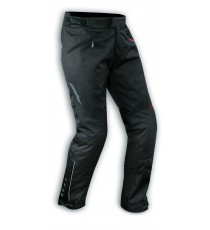Pantaloni Impermeabile Donna Moto Termica Gamba Lunga +8cm Nero