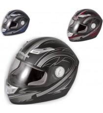 Casco Integrale Pista Racing Moto Fibra Sfoderabile Lavabile Omologato