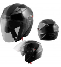 Kinetic-Helmet-Casco-Motorcycle-Nero-Black-Sonic-Moto-A-Pro-Set