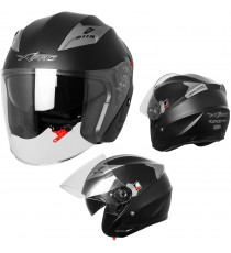 Kinetic-Casco-Helmet-Motorcycle-Nero-Opaco-Matt-Black-Sonic-Moto-A-Pro-