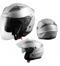 Kinetic-Casco-Helmet-Motorcycle-Argento-Silver-A-Pro-Sonic-Moto-Set