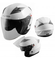 Kinetic-Helmet-Casco-Motorcycle-Bianco-White-A-Pro-Sonic-Moto-Set