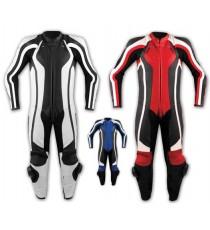 Tuta Pelle Intera Moto Racing Pista Sport Professionale Protezioni Omologate
