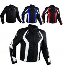 Giacca Cordura Tessuto Sportiva Traspirante Moto Gilet Termico Protezioni CE