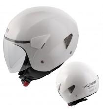 Casco Jet Scooter Moto Omologato ECE 22-05 Visiera Antigraffio Bianco