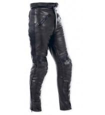Pantaloni Pelle Moto Sport Touring Custom Protezioni Omologate CE Uomo Donna