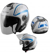 Openline-Casco-Helmet-Motorcycle-Bianco-White-Blue-Sonic-Moto-A-Pro-Compo
