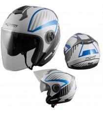 Openline-Casco-Helmet-Motorcycle-Bianco-White-Blue-Sonic-Moto-A-Pro-Compo