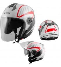 Openline-Helmet-Motorcycle-Red-White-Bianco-Rosso-Sonic-Moto-A-Pro-Compo