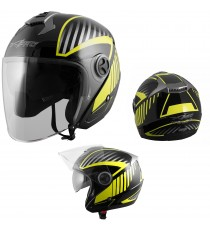 Openline-Casco-Helmet-Motorcycle-Nero-Black-Fluo-A-Pro-Set