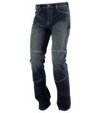 Jeans Pantaloni Denim Moto Protezioni Omologate Inserti  Aramid Rinforzati nero