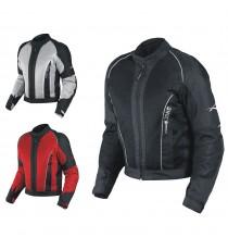 Giacca Giubbino Mesh Traforato Traspirante Tessuto Tecnico Moto Touring Sport