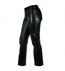 Pantaloni Pelle Vitello Donna Morbido Vita Bassa Jeans Moto Custom Lady
