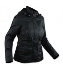 Giacca Scooter Lady Giaccone Città Moto Donna Impermeabile Protezioni Nero