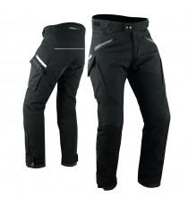 Pantaloni Moto Tessuto Nylon Tecnico 3 Strati Impermeabile Termico