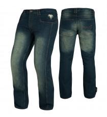 Jeans Pantaloni Moto Scooter Protezioni CE Omologate Rinforzo Fianchi Blu
