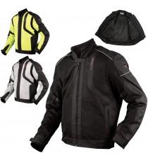 Giacca Moto Sport Tessuto Protezioni CE Impermeabile Ventilata Estiva