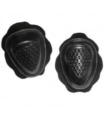 Sliders Ricambio Coppia Saponetta Tuta Moto Pelle Pista Universali Velcro  Nero