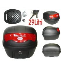 Bauletto Baule Moto Scooter 29 Litri Valigia Piastra Universale Nero