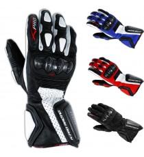 Guanto Sportivo Pista Moto Tecnico Protezioni Carbonio Professionale Pelle