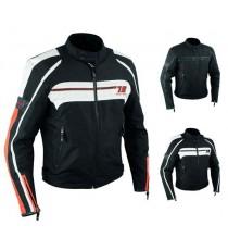 Giacca Moto Sport Custom Impermeabile Sfoderabile Tessuto Cordura Inserti Pelle