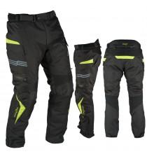 Pantaloni Impermeabile Moto Termica Estraibile Strisce Riflettenti Fluo