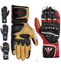 Guanto Sportivo Pista Sport Moto Tecnico Protezioni Carbonio Professionale Pelle