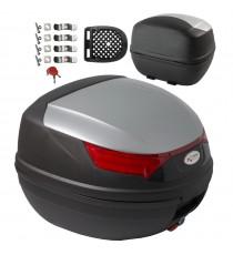 Bauletto Moto Scooter Baule Valigia Rigida Universale Top Case Argento