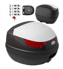 Bauletto Moto Scooter Baule Valigia Rigida Universale Top Case bianco