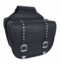 Coppia Borse Laterali Saddle bag Bisacce Rigide Moto Chopper Custom Nero