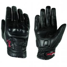 Guanti  pelle moto con protezioni protezioni sport custom tourg A-Pro Nero