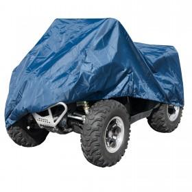 Telo Copri Moto ATV Quad Naked Impermeabile PVC Universale Garage Blu