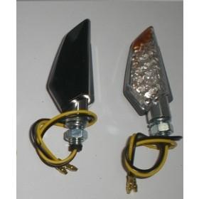 Coppia Frecce Moto Led Universali Indicatori Direzione Metallo  Nero