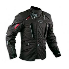 Giacca Touring Moto Cordura Tessuto Protezioni CE Impermeabile Nero