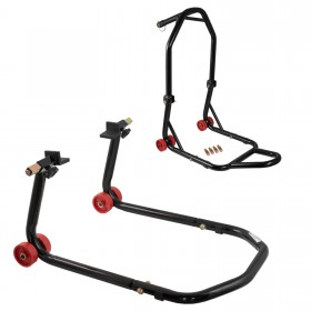 Cavalletto Alza Moto Universale Kit Anteriore Sottocanotto Posteriore Slitta