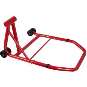 Cavalletto Monobraccio Moto Posteriore Rosso Universale Metallo Rosso