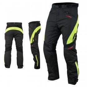 Pantaloni Donna Impermeabile Moto Imbottitura Termica Traspirante Fluo