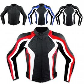 Giacca Donna Lady Sport Moto Pelle Protezioni Omologate CE Rinforzo Schiena