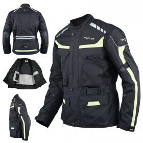 Giacca Impermeabile Moto Tessuto Protezioni CE Scooter Viaggio Fluo