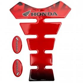 Tank Pad Moto Adesivo 3D Impermeabile Honda Paraserbatoio Protezione Rosso