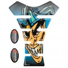 Adesivo Paraserbatoio Resinato Moto Tankpad Joker Protezione Sticker 3D